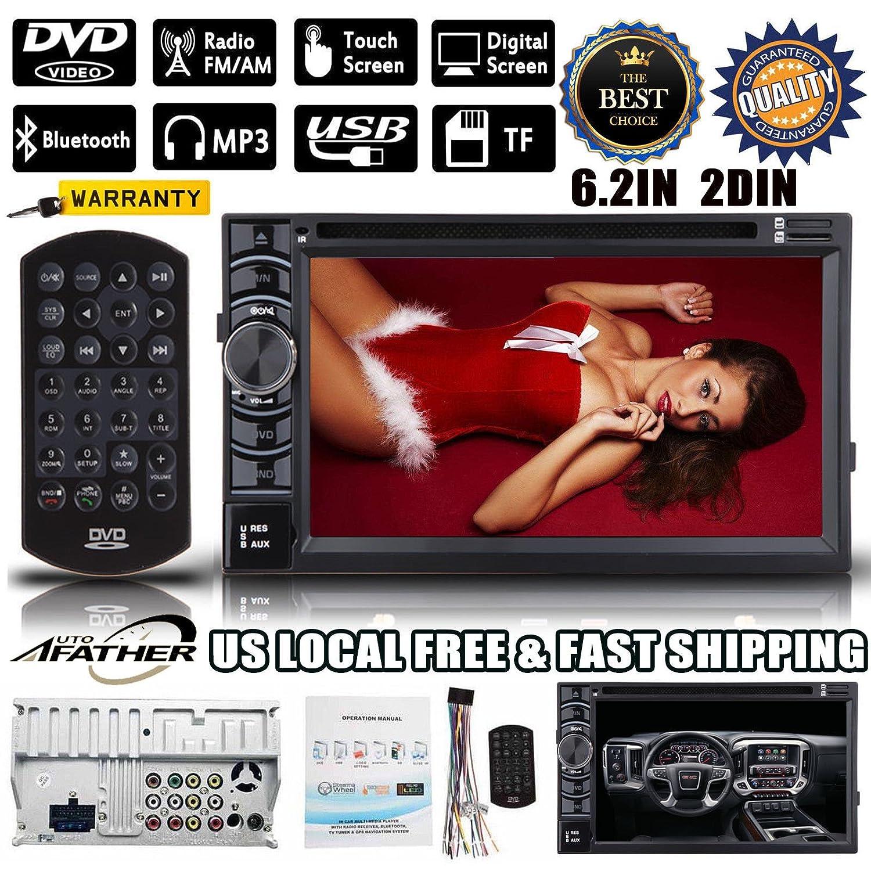 2 DINカーステレオBluetoothとTochscreen 6.2インチHD画面、USB SDカードポート、aM / FMラジオ(サポートバックアップ背面カメラ) B078JKJMM8