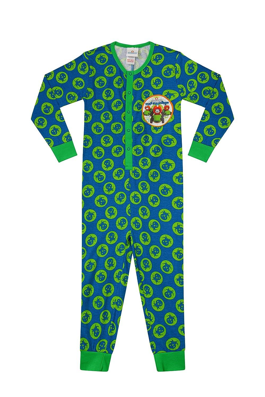 ThePyjamaFactory Jungen Strampelanzug Blau Blau