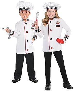 Master Chef Kit Kids Fancy Dress Roleplay Cook Uniform Boys Girls Childs  Costume