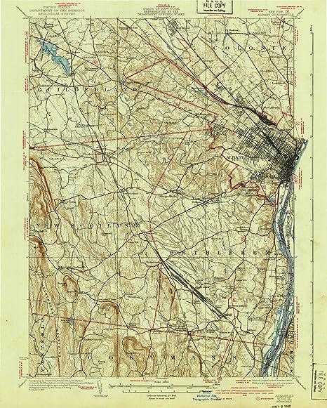 Amazon.com : YellowMaps Albany NY topo map, 1:62500 Scale, 15 X 15 ...