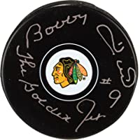 """$47 » Bobby Hull Chicago Blackhawks Autographed Team Logo Puck with""""The Golden Jet"""" Inscription - Fanatics Authentic Certified"""