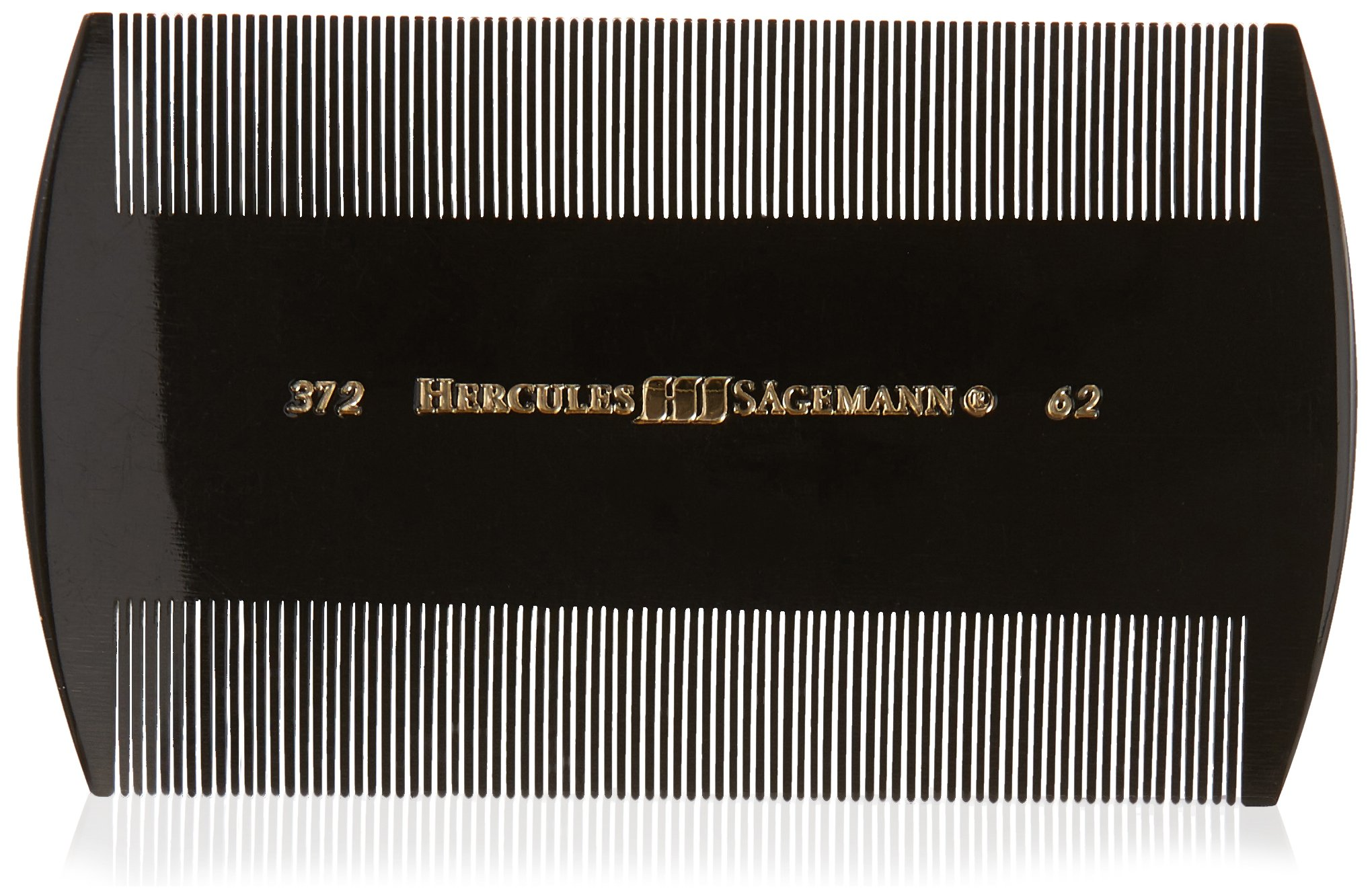 Hercules Sägemann Residue, Nit and Lice Comb | Seamless - Professional - Perfection in Design and Function - Hard Rubber (Ebonite) - Made in Germany
