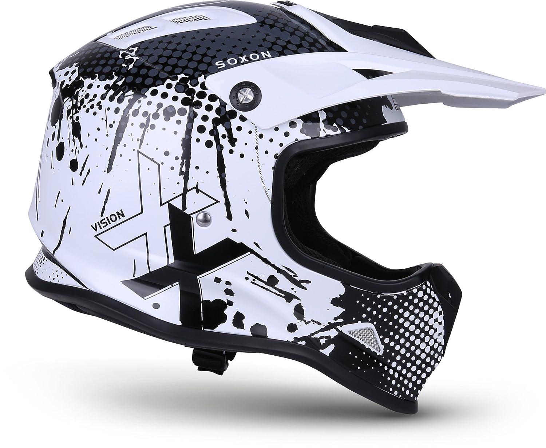 "51-52cm Soxon/® SKC-33 /""Fusion Blue/"" /· Kinder-Cross-Helm /· Motorrad-Helm MX Cross-Helm MTB BMX Cross-Bike Downhill Off-Road Enduro-Helm Moto-Cross Sport /· ECE Schnellverschluss SlimShell Tasche XS"