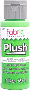 Fabric Creations 3-D Plush Fabric Paint, 2 oz, Sour Apple