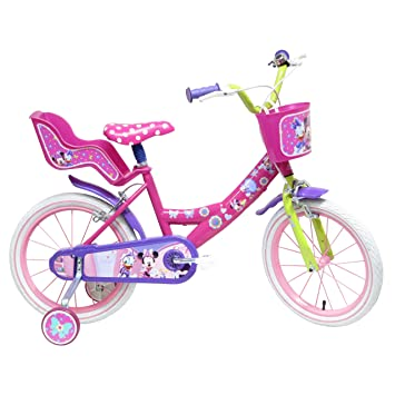 Bicicleta 16 pulgadas para 5-8 años de Minnie Mouse: Amazon.es ...