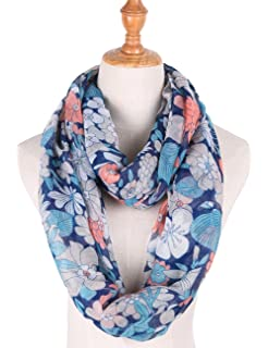 2f6c3dca4 Infinity Scarfs for Women Loop Circle Scarves Floral Print Lightweight Scarf