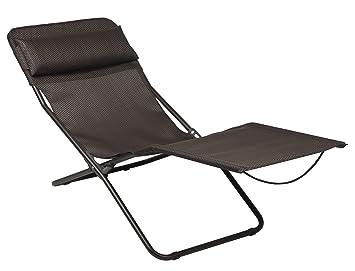 Lafuma LFM2402-5021 Transalounge XL Chaise longue pliable avec toile on