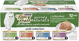 Purina Fancy Feast Grain Free, Natural Pate Gourmet Naturals Pate Wet Cat Food Variety Pack