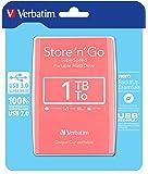 Verbatim Store 'n' Go USB 3.0 - Disco duro externo (Alámbrico, USB 3.0 (3.1 Gen 1) Type-A, Unidad de disco duro, USB, Rosa, 3.0 (3.1 Gen 1))