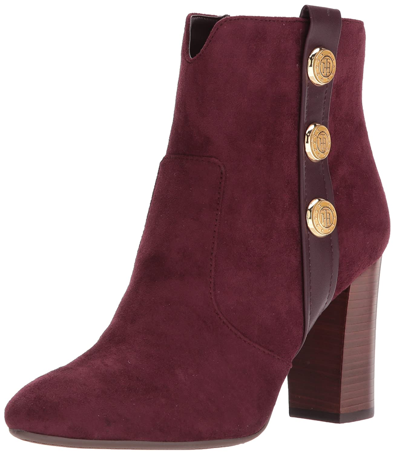 Tommy Hilfiger Women's Domain Ankle Boot B06ZZ7KQZ3 9.5 B(M) US|Burgundy
