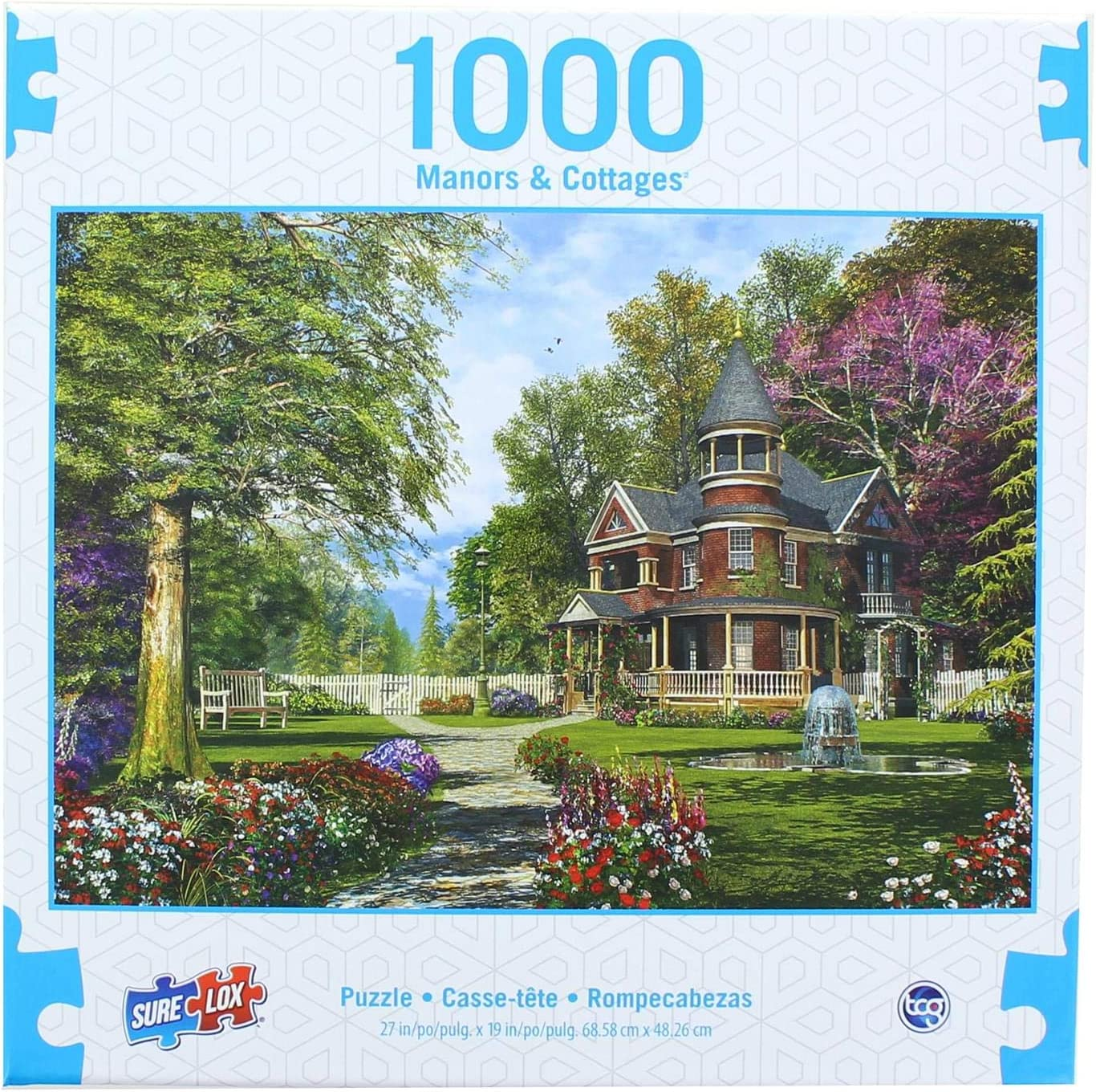 The Canadian Group Manors & Cottages 1000 Piece Jigsaw Puzzle | Late Summer Garden