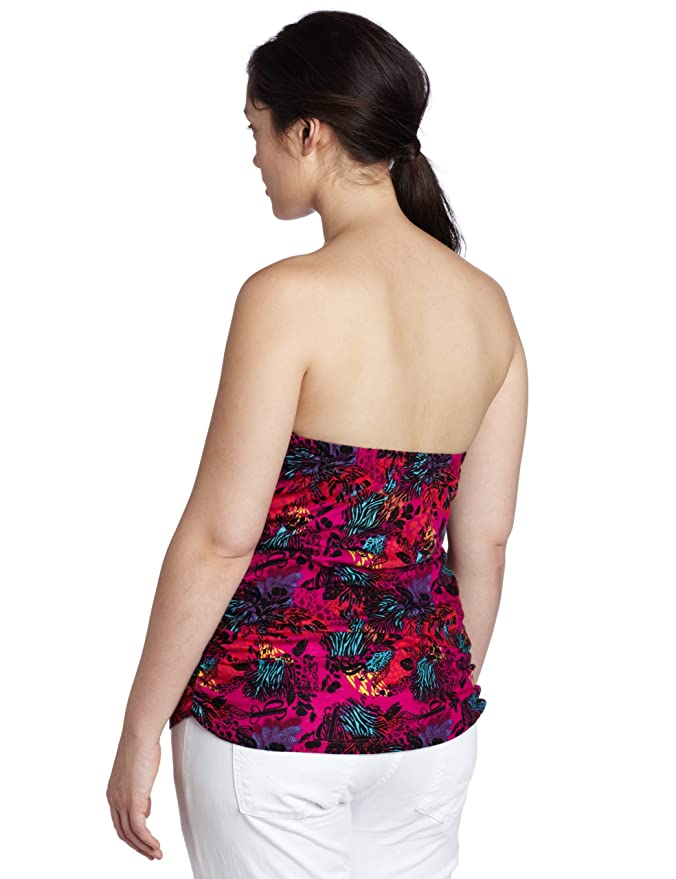 e81de561639 Amazon.com  Southpole Juniors Plus Size Floral Tube Top