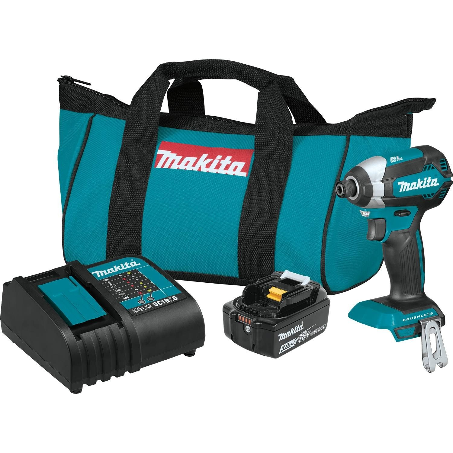 Makita XDT131 18V LXT Lithium-Ion Brushless Cordless Impact Driver Kit  (3.0Ah) - - Amazon.com cd609f88bdfd1