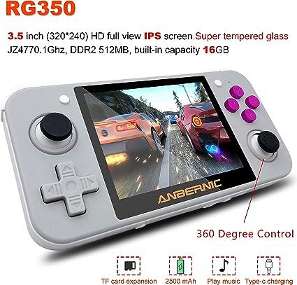 Amazon.com: MJKJ - Consola de videojuegos de mano, RG350 ...