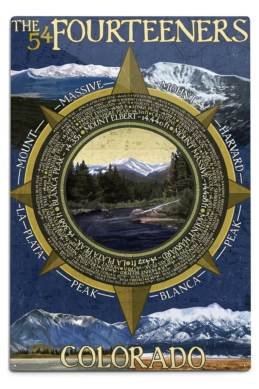 【期間限定特価】 The Fourteeners - Rocky Mountain 18 National Park (9x12 Metal Art Print, Print, Wall Decor Travel Poster) by Lantern Press B06Y1GX6M1 12 x 18 Metal Sign 12 x 18 Metal Sign, バリ雑貨アジアンインテリアストア:23f252ab --- lazypandafilms.com