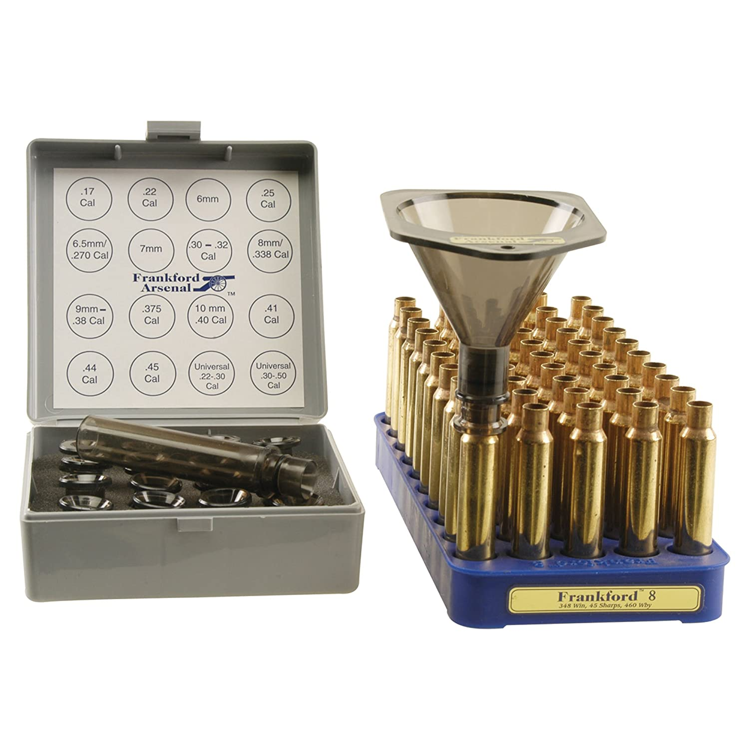 Frankford Arsenal Powder Funnel with 16 Quick-Change Nozzles and 4