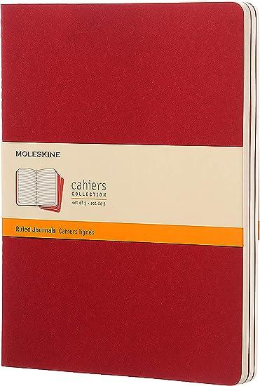Moleskine CH121 - Set de 3 cuadernos a rayas, extragrandes, color ...