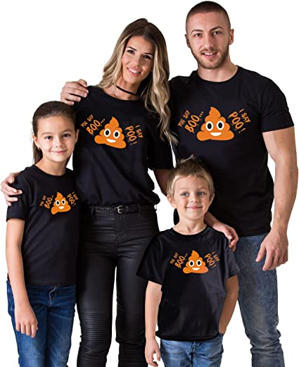 Seasonal Camisa Negra para niños con diseño de Emoji de Halloween - Negro - Large: Amazon.es: Ropa y accesorios