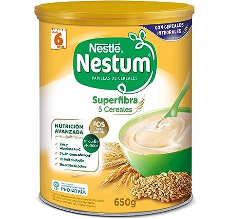 Nestlé Papillas NESTUM, Cereales para bebé, Pack de 3 x 650 gr, Total : 1,95 kg: Amazon.es: Alimentación y bebidas