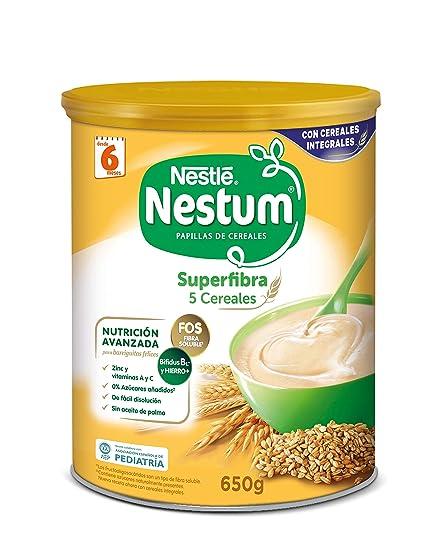 Nestlé Papillas NESTUM Cereales para bebé - 5 Cereales - 3 papillas ...