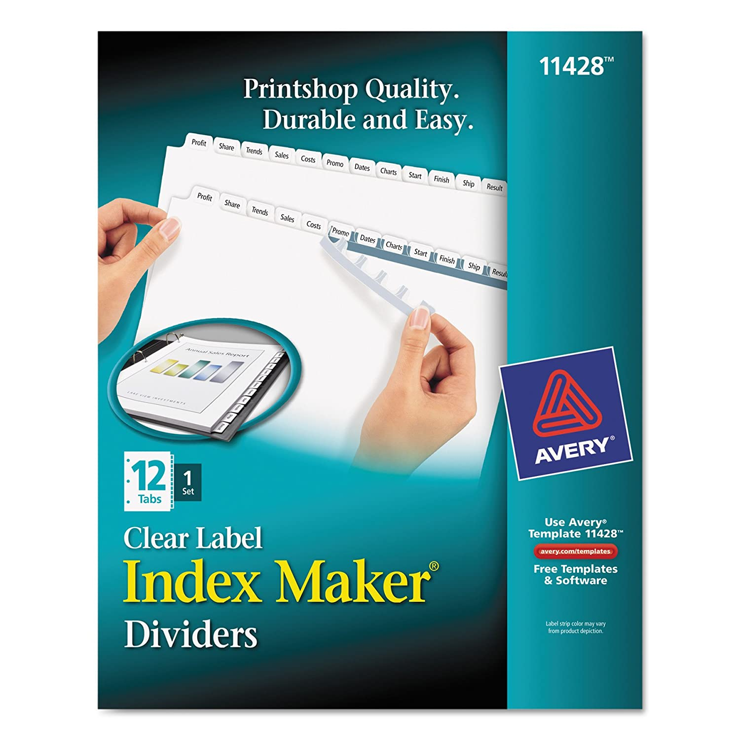 Amazon Avery Print Apply Clear Label White Tab Dividers