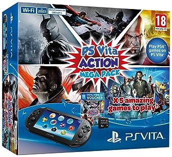 Sony PlayStation Vita Console Plus Action Mega Pack Plus 8GB