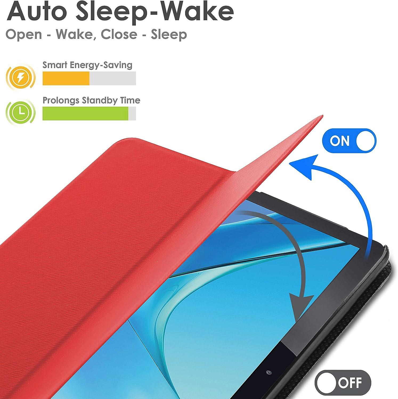 Automatische Schlaf-Wach-Funktion Magnetische H/ülle und St/änder f/ür Huawei Mediapad M5 8.4 Zoll 2018 Modell Forefront Cases Huawei Mediapad M5 8 H/ülle Stylus Rot D/ünn Leicht