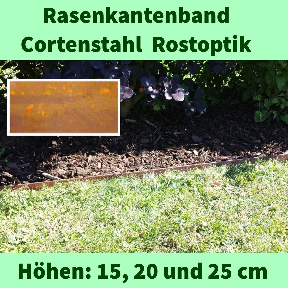 IRKA Verbinder Corten Stahl f/ür Rasenkantenband 15 cm