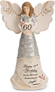 Pavilion Gift Company 82415 Elements Angels - Happy 60th Birthday May The Blessings of Today Bring You Joyful Tomorrows