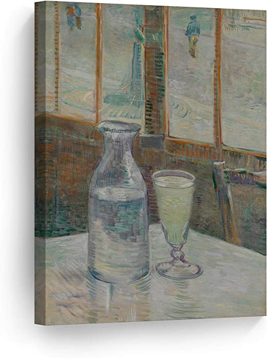 The Still Life with Absinthe by Vincent Van Gogh Giclee Print Repro on Canvas