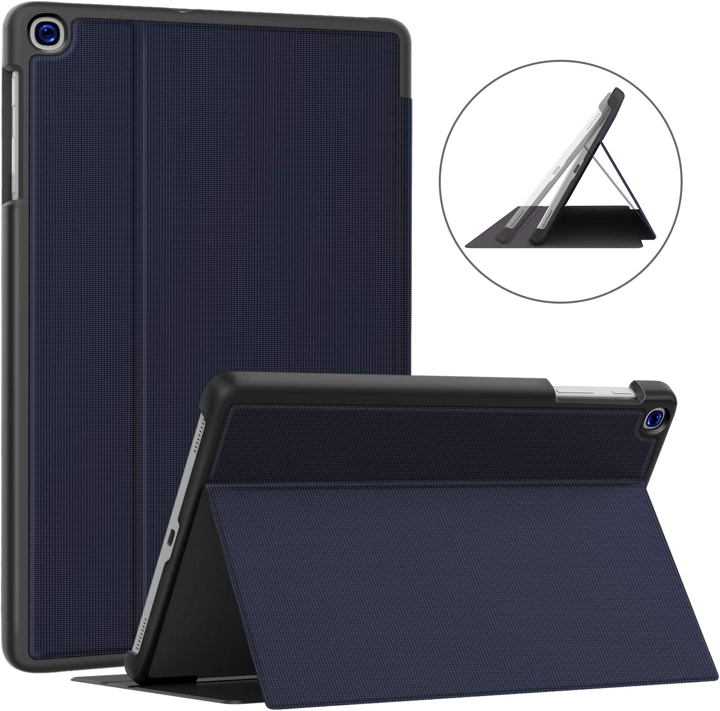 Soke Galaxy Tab A 10.1 Case 2019, Premium Shock Proof Stand Folio Case, Multi- Viewing Angles, Soft TPU Back Cover for Samsung Galaxy Tab A 10.1 inch Tablet [SM-T510/T515/T517],Dark Blue