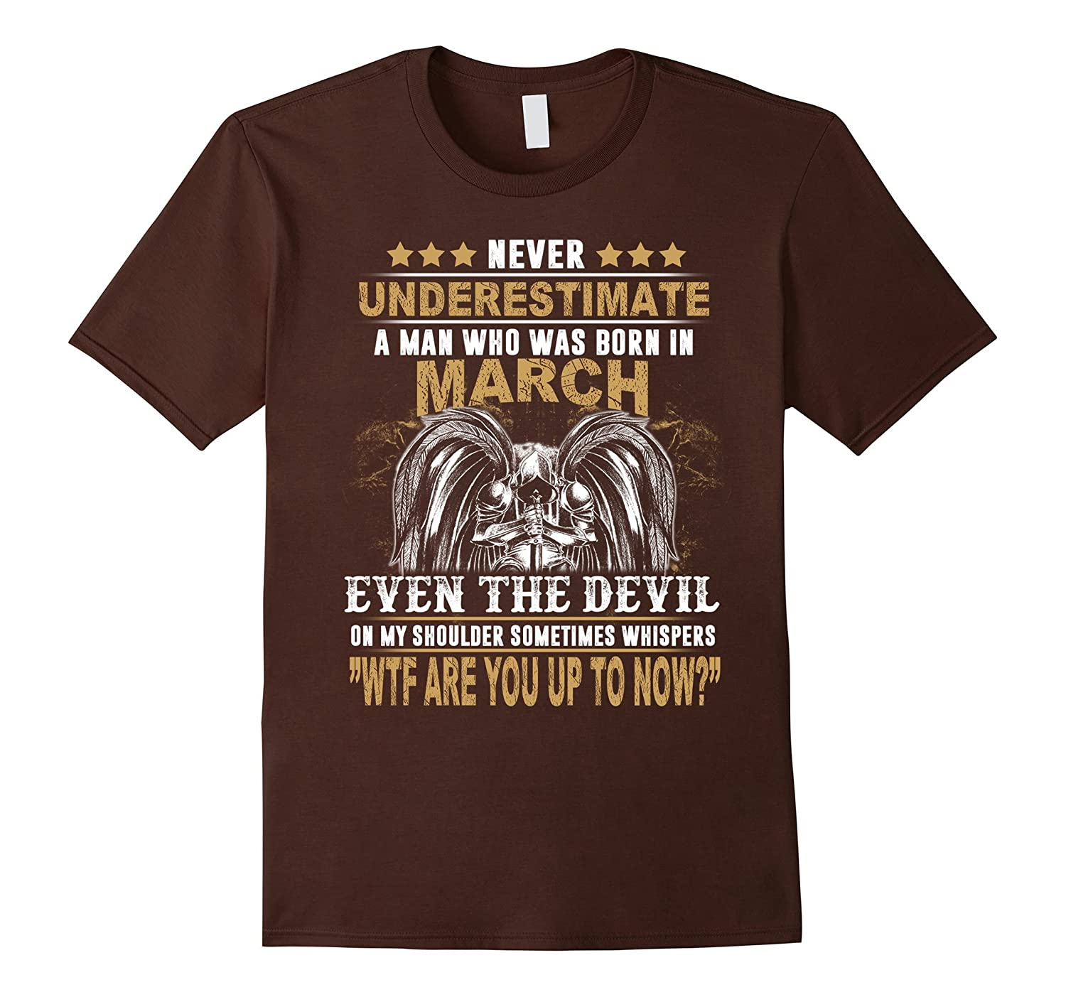 Mens Never Underestimate A Man Who Was Born In March Shirt-FL