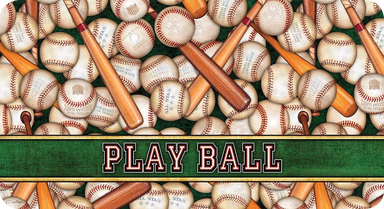Toland Home Garden America's Pastime 20 x 38 Inch Decorative Play Ball Baseball Sport Anti Fatigue Comfort Mat
