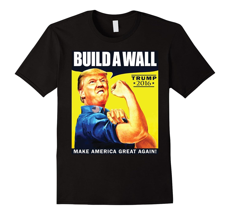 American Pride Build A Wall Trump Tee T Shirt S-XXL-CD