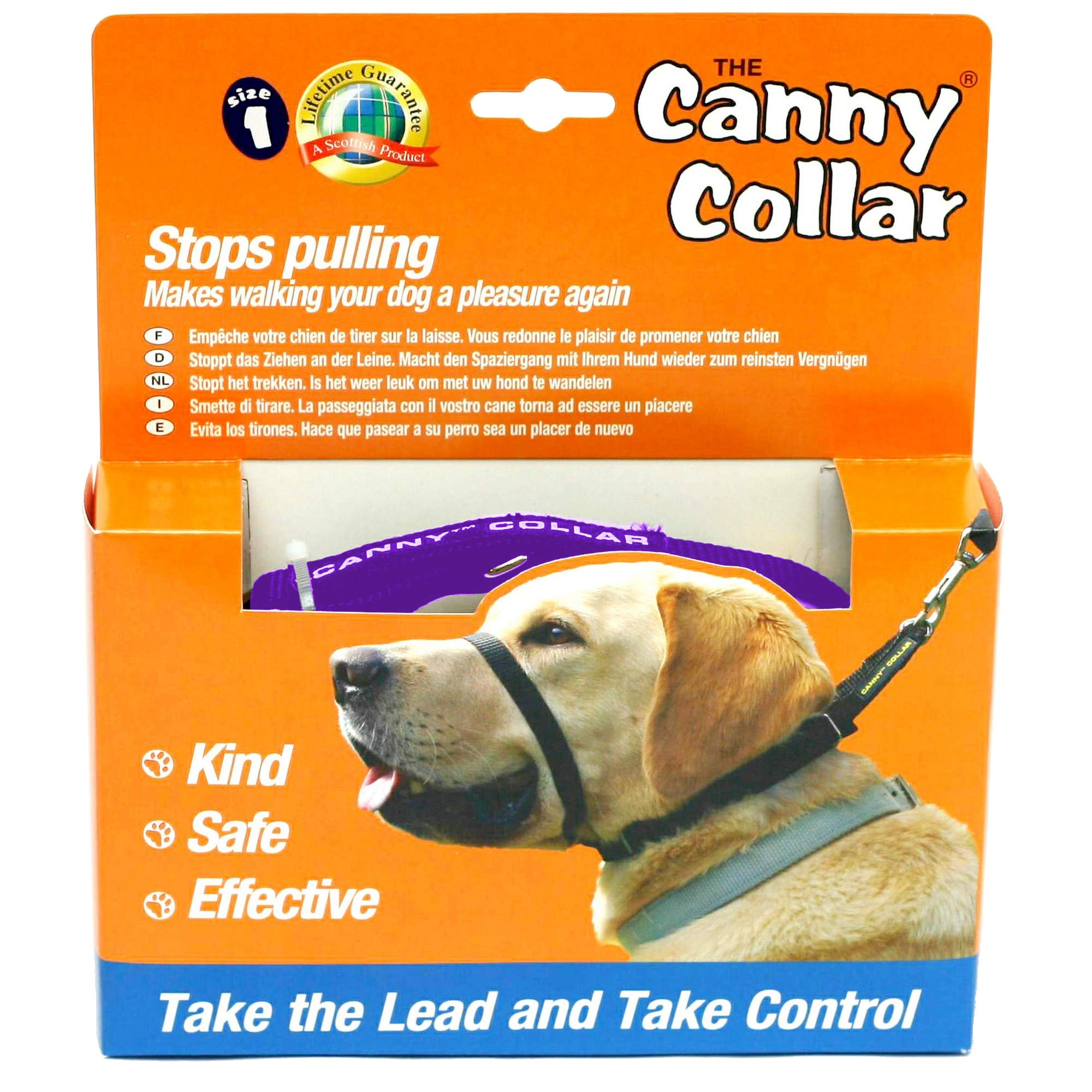 Canny Anti-Pull Dog Collar (Size 1) (Purple)