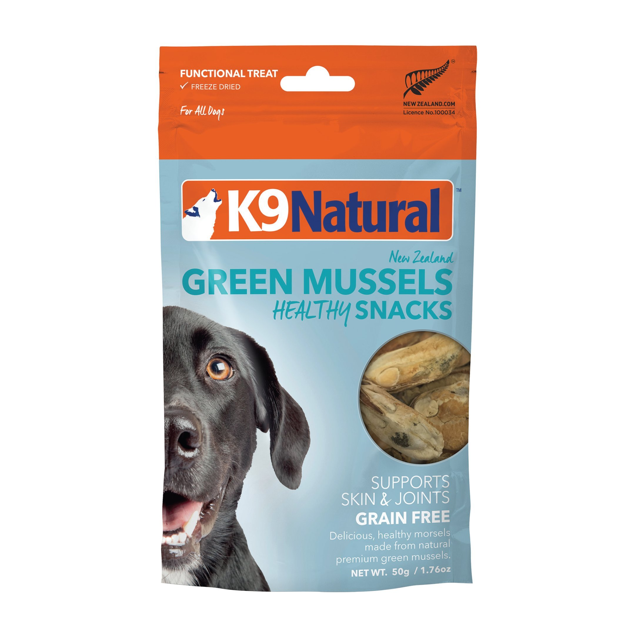 K9 Natural Freeze Dried Dog Treats By Perfect Grain Free, Healthy, Hypoallergenic Limited Ingredients Snacks For All Dog Types - Raw, Freeze Dried Treats - New Zealand Green Mussel Bites - 1.76oz