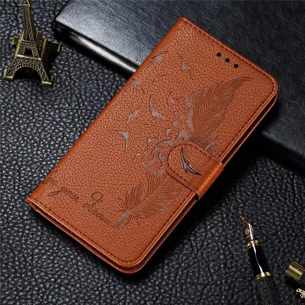 FlipBird Luxury Flip Wallet Case for Galaxy A5 2018 Flip Fold Kickstand Case with Card Holders Folding Stand Protective Book Case Cover for Samsung Galaxy A5 2018