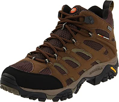 Merrell Men's Moab Mid Gore-Tex Hiking Boot, Dark Earth, ...