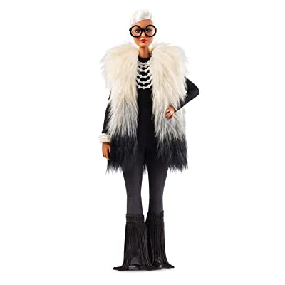 ​Barbie Styled by Iris Apfel Doll with Multi-Hued Vest, Fringed Bell Bottoms and Accessories ​: Toys & Games