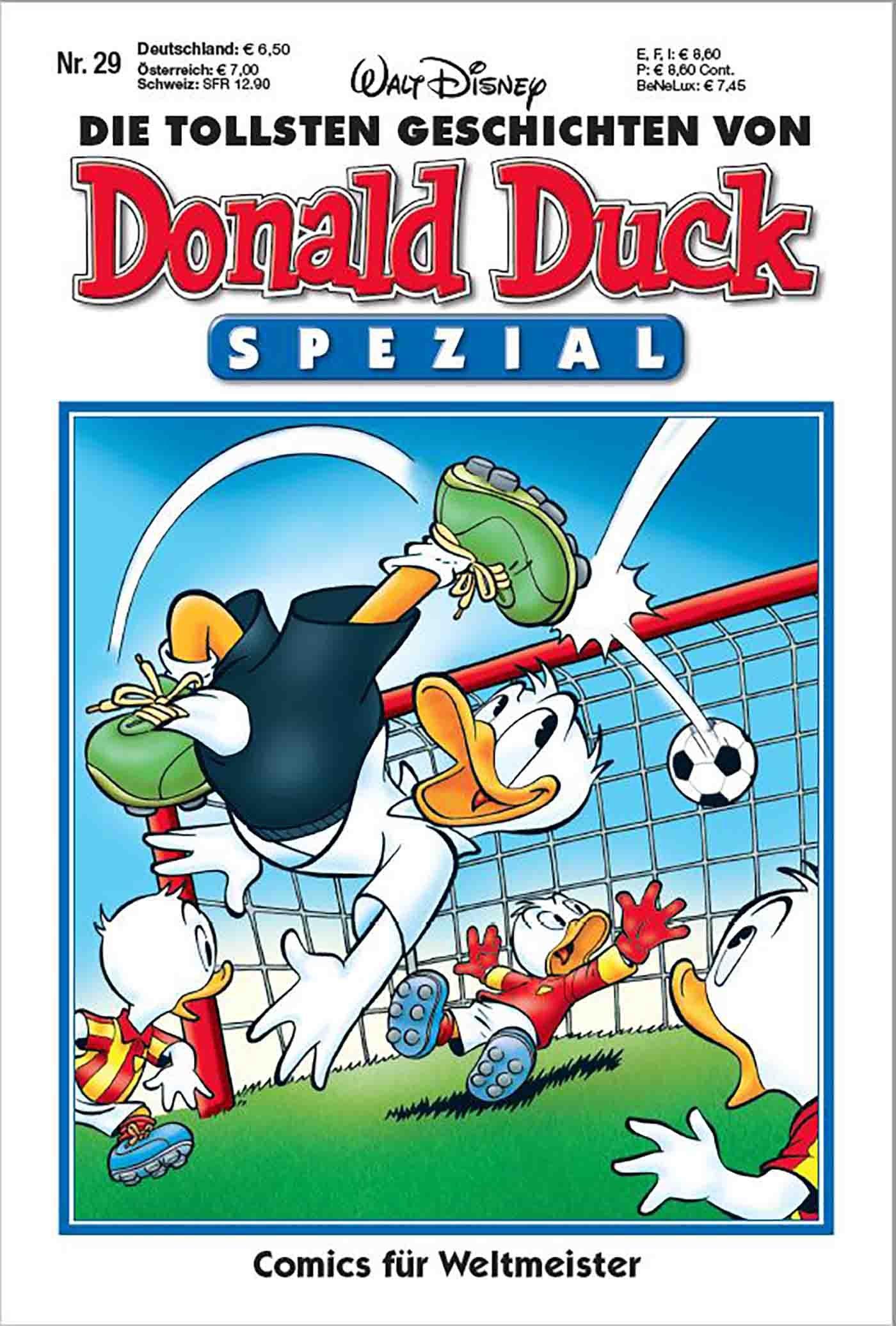 Die tollsten Geschichten von Donald Duck - Spezial Nr. 29: Comics für Weltmeister Taschenbuch – 30. Mai 2018 Disney Egmont Ehapa Media 3841370292 Comic / Abenteuer