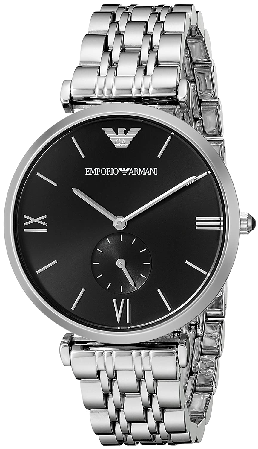 Amazon.com: Emporio Armani Mens AR1676 Retro Silver Watch: Emporio Armani: Watches