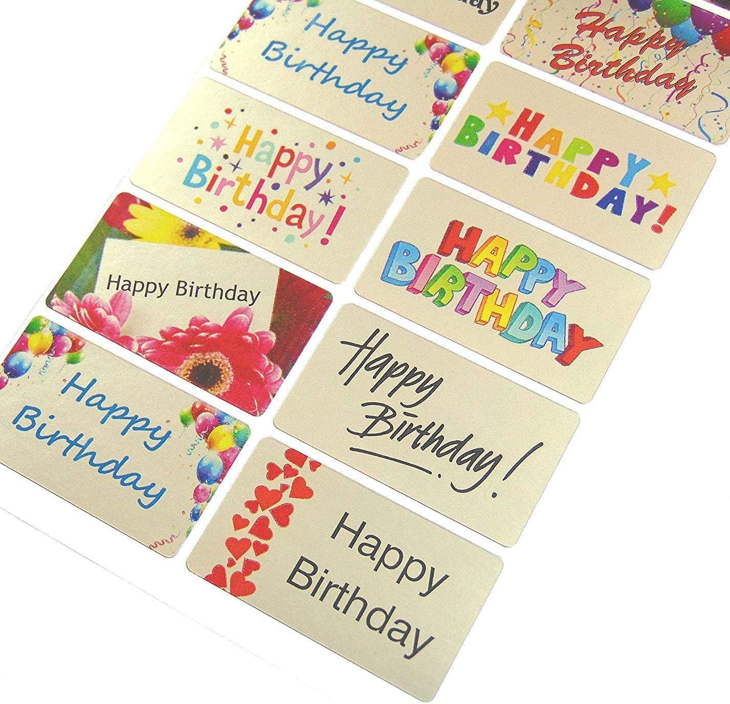 Joyeux anniversaire Style Fête Large Self Adhésif étiquettes x 21