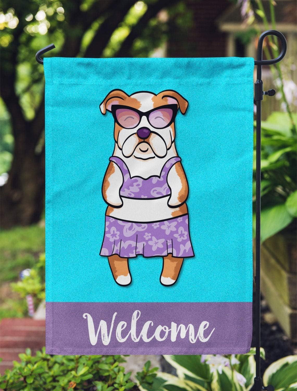 yyone English Bulldog Garden Flag (Girl), Special Vote Flag Sign, Quote Sign Flag, Garden Flag 28 X 40 Inches Outdoor Decor for Homes, Car