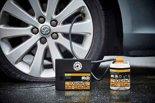 Osram Otsk4 Tyreseal Kit Tyre Sealant 450 Ml And Analogue Tyre Compressor Tyre Repair Kit 450 Ml Auto
