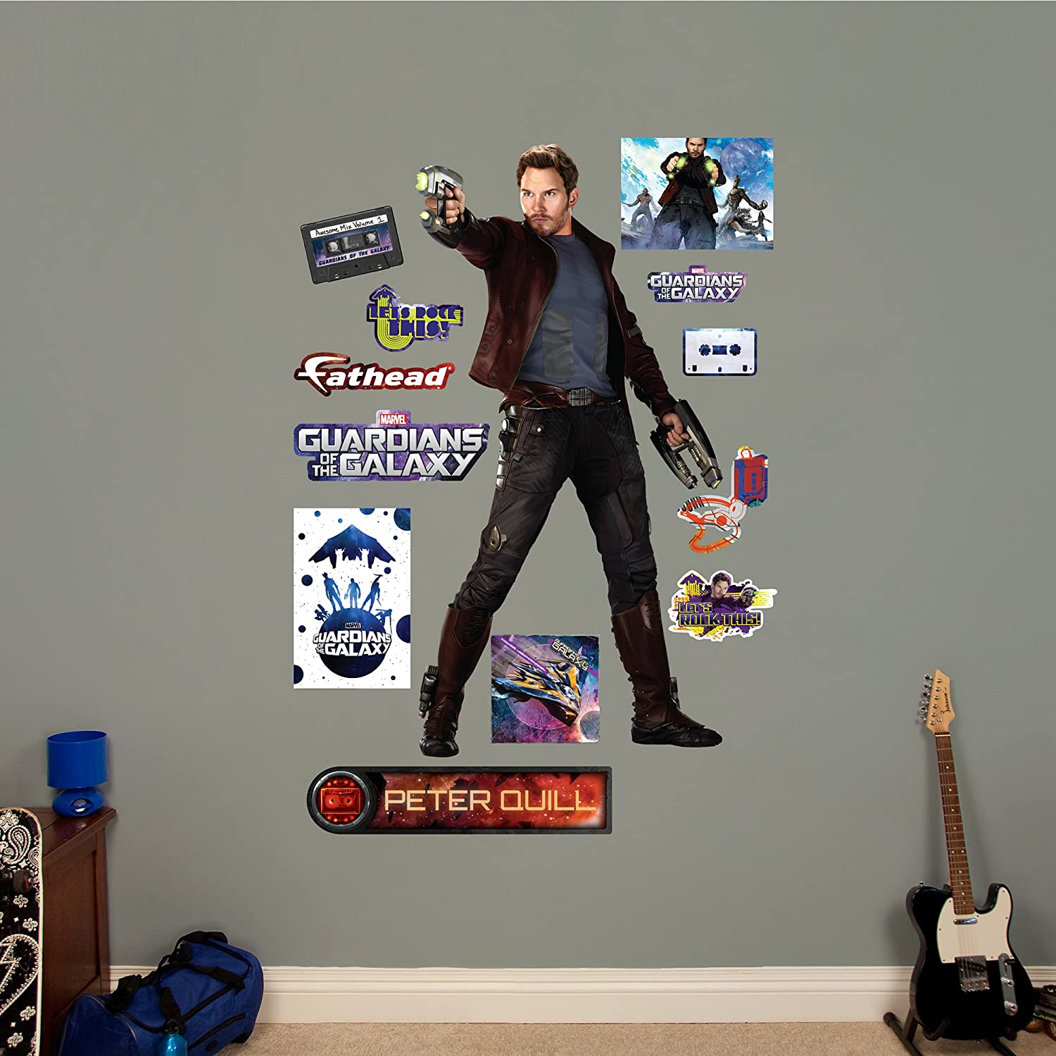FATHEAD Peter Quill-Guardians of The Galaxy Wall Decal