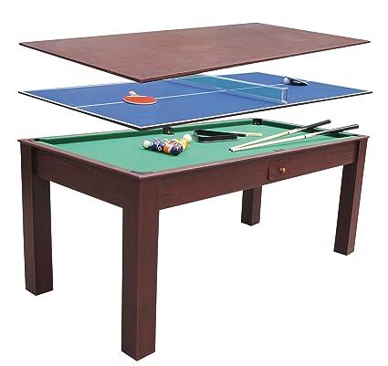 Billar 3 en 1 ping pong y mesa de comedor escritorio 1,84x91 cm ...