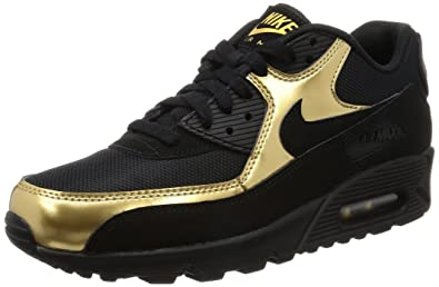 277260afc2 Image Unavailable. Image not available for. Colour: Nike Mens Air Max 90  Essential, Black/Metallic Gold ...