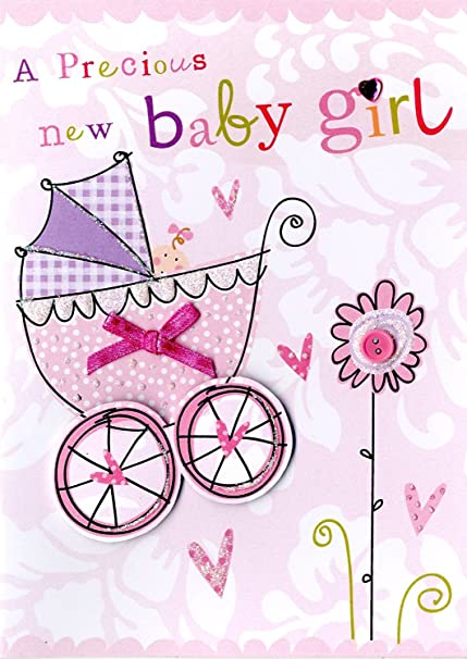 Congratlations On Your Baby Girl Greeting Card /& Envelope~NEW IN SEALED PACKAGE!