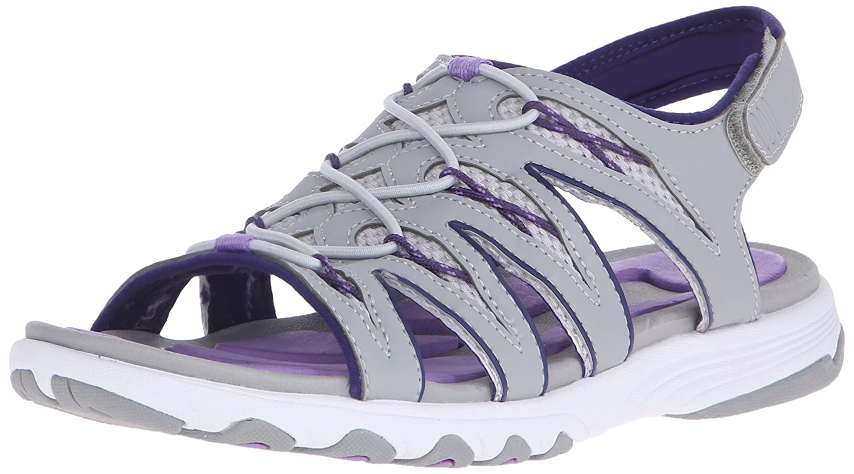 Ryka Women's Glance Athletic Sandal B0128LOKW2 9.5 B(M) US|Grey/Cool Mist Grey/English Lavender