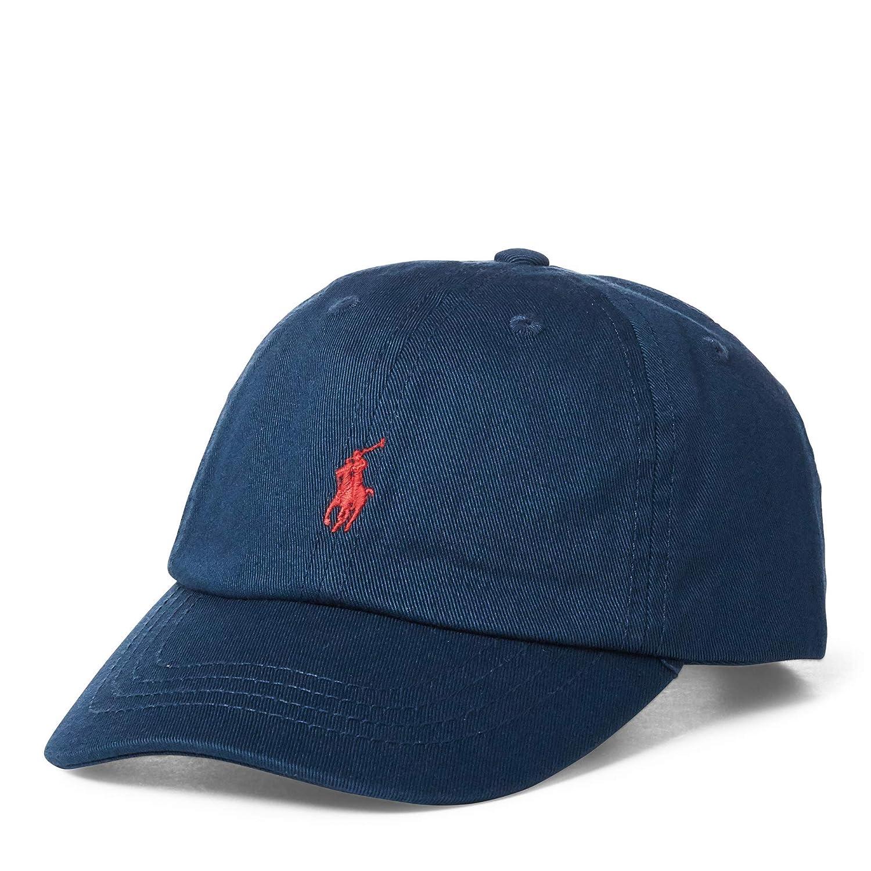 Ralph Lauren Big BOY Cotton Chino Baseball Cap Clancy Blue Size 8-20